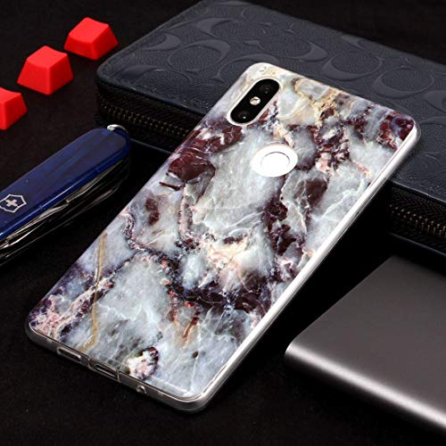 Jiangym Mobile Phone Soft Cases Marble Pattern Soft TPU Case for Xiaomi Mi Mix 2S(Plum Blossom) Soft Cases (Color : - Blossoms Mix