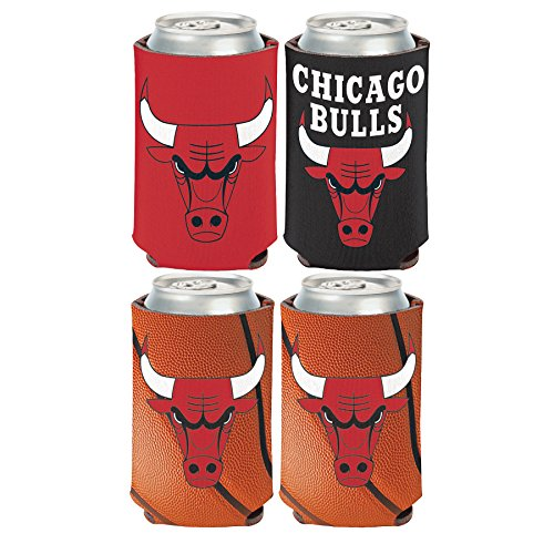 WinCraft NBA Chicago Bulls 2 PACK 12 oz. 2-Sided Can Coolers by WinCraft