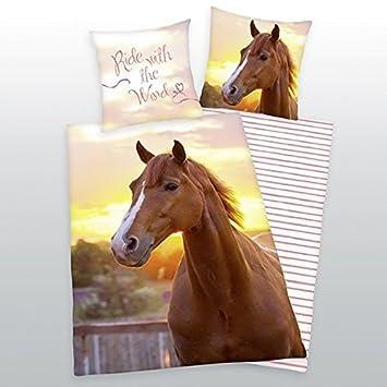 Herding Bettwäsche Mit Pferd 135 X 200 Cm 80 X 80 Cm 100 Baumwolle