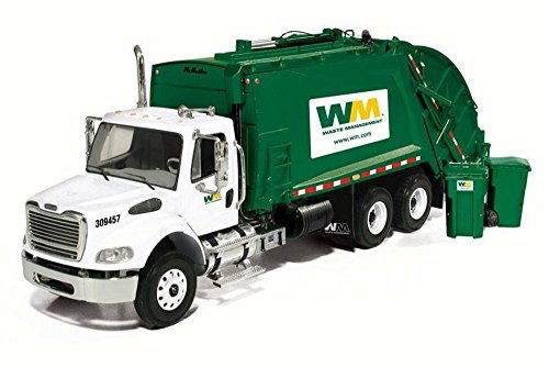 First Gear Freightliner M-2 Rear Load Refuse Truck with Bins, 10-3287T/6 - 1/34 Scale Diecast Model Replica