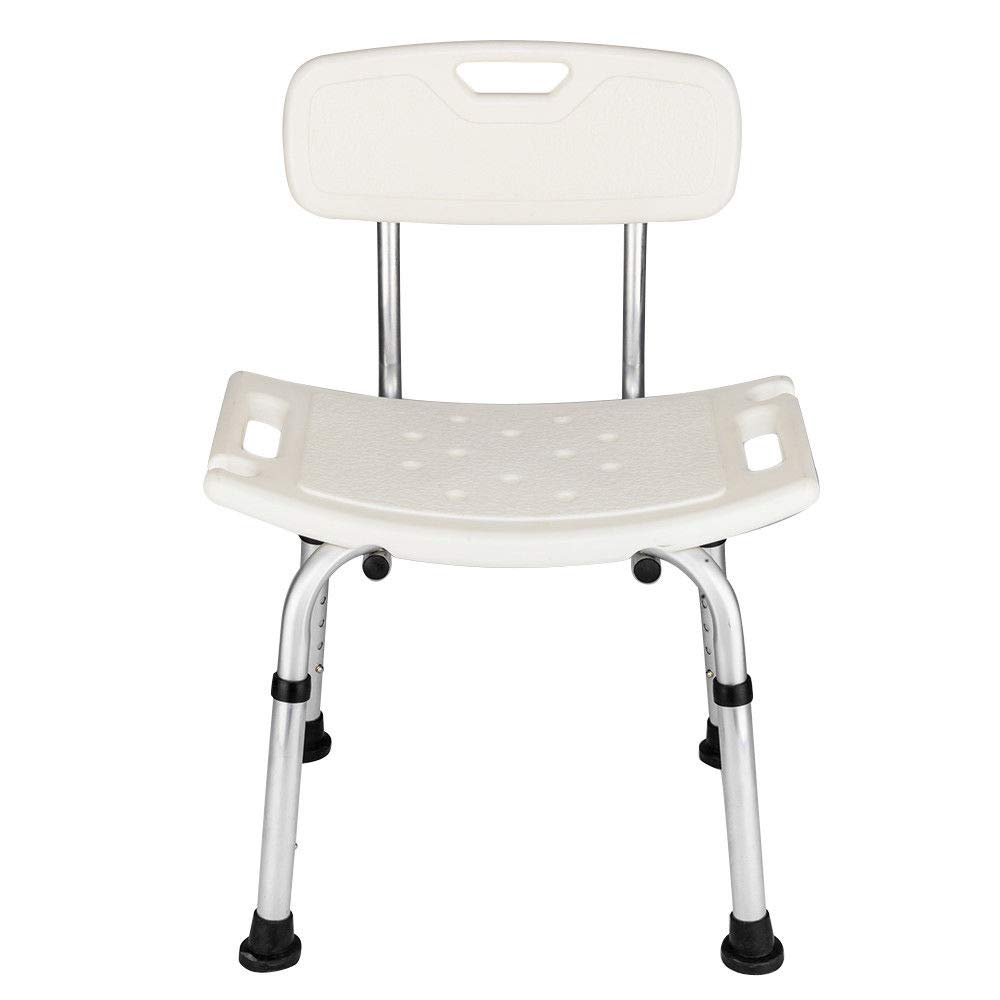Adjustable Medical Bath Shower Chair Bathtub Bench Stool Seat Heavy Duty White by 702 store