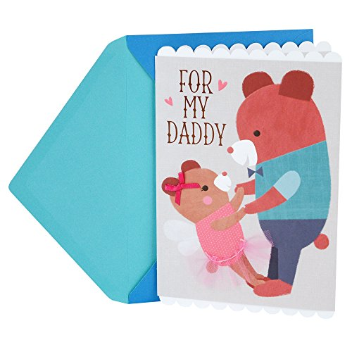 Hallmark Father's Day Greeting Card for Daddy from Daughter (Cute Dancing Bears)
