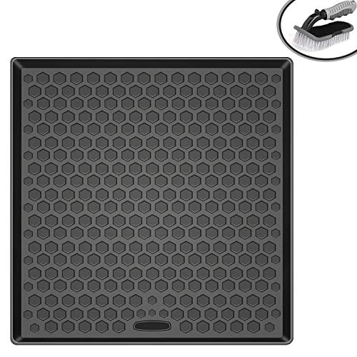 - Vanku Cargo Liner Floor Mat for Toyota 4Runner 2010 2011 2012 2013 2014 2015 2016 2017(no 3rd Row), Heavy Duty All Weather Trunk Mat with Brush