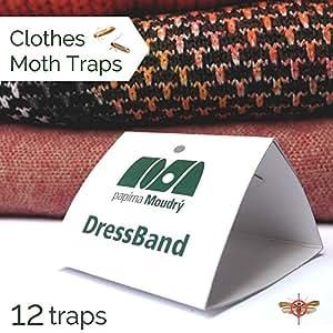 Dressband ropa llew mejia trampas, Pack de 12unidades–Feromona pegamento cebo trampas, sin olor y no Tóxico