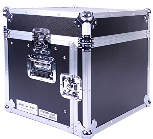 DEEJAY LED TBHM806E Fly Drive Case 8u Space Slant Mixer Rack / 6u Space Vertical Rack System with Full AC Door
