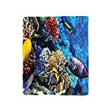 VROSELV Custom Blanket Ocean Collection Wild Sea Life Colorful Ancient Corals and Fishes in the Red Egyptian Sea Sharm El Sheikh Africa Print Bedroom Living Room Dorm Blue Red Yellow