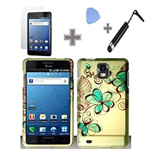Quaroth Rubberized Azure Flower Snap on Design Case Hard Case Skin Cover Faceplate with Screen Protector, Case Opener...