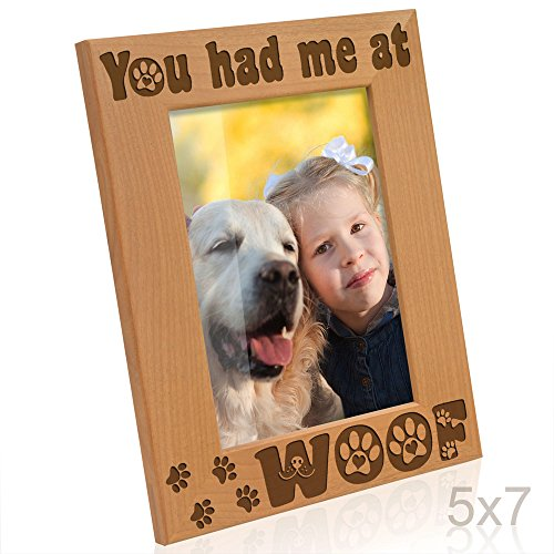 - Kate Posh - You had me at Woof - Dog Paws Wood Picture Frame (5x7 Vertical)
