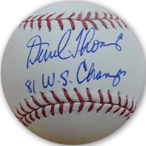 Derrel Thomas Hand Signed Autographed Major League Baseball 1981 WS LA Dodgers by Cardboard Legends Online