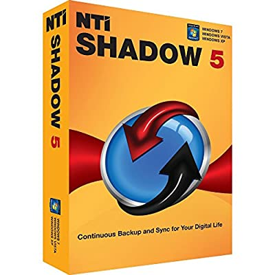 "NTI Shadow 5 for Windows [Holiday Sale!] Newest edition of ""Editor's Choice"" Award-winning backup software. Continuous Backup. Email Backup. File Synchronization. by NTI Corporation"
