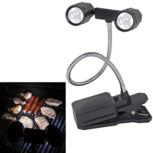 MEGAZON 360°Rotation Adjustable LED Barbeque Grill Light, Chef Buddy Adjustable Outdoor BBQ Clamp Lamp Light