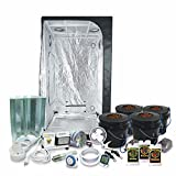 Complete 3 x 3 (39'x39'x79') Grow Tent Package With 400-Watt HPS Grow Light + DWC Hydroponic System & Advanced Nutrients