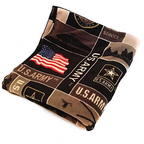 Army Fleece Throw (Zen Creative Designs Cozy Fleece Printed United States Army Print Blanket 58 Inch By 36 Inch)