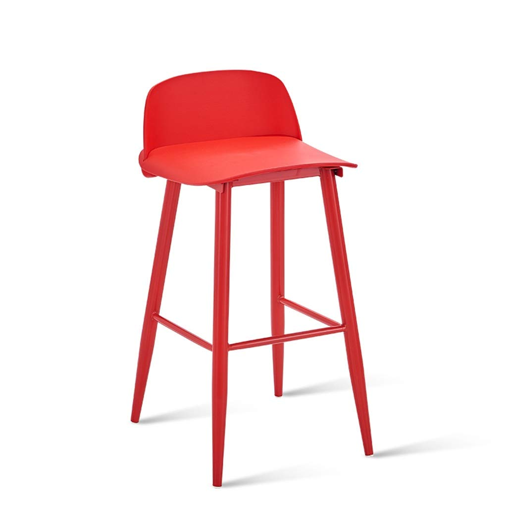 Red TXXM Barstools Bar Chair Cafe Stool high Stool Breakfast Stool Counter Stool Black Multicolor (color   Pink)