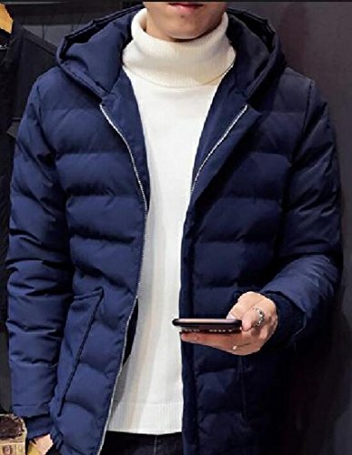 Down Jacket Navy Winter Up blue Men's UK Jacket today Hooded Thicken Padded Zip 0ARSvw