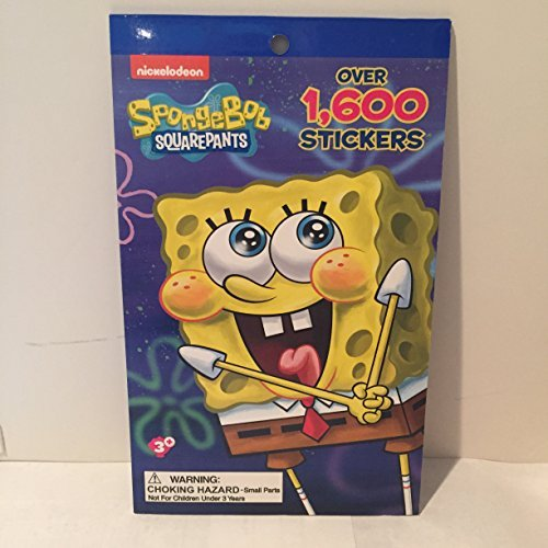 Sticker Squarepants Spongebob - Creative Kids Far East Inc. Nickelodeon Spongebob Squarepants 1, 600 Stickers Book