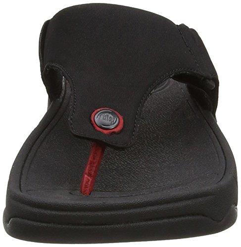 FitFlop Men's Trakk ii Textile Sandal Black Textile - 10