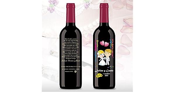 50 Botellas de vino Tinto (3/8) decorada directamente sobre ...
