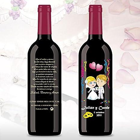 50 Botellas de vino Tinto (3/8) decorada directamente sobre vidrio ...