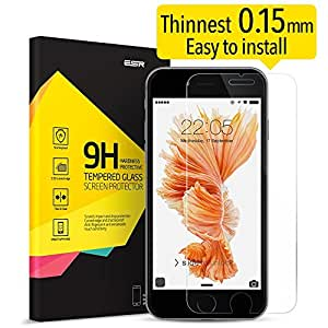 iPhone 6S Screen Protector, iPhone 6 Screen Protector,ESR Tempered Glass iPhone 6S Screen Protector [Scratch-Resistant 9H][Bubble Free Easy Installation] [HD Clear] for 4.7 inches iPhone 6S
