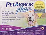 Sergeant's Pet Products 5132 Pet Armor Plus Flea & Tick Topical For Dogs, 45-88 Lb/3 Ct