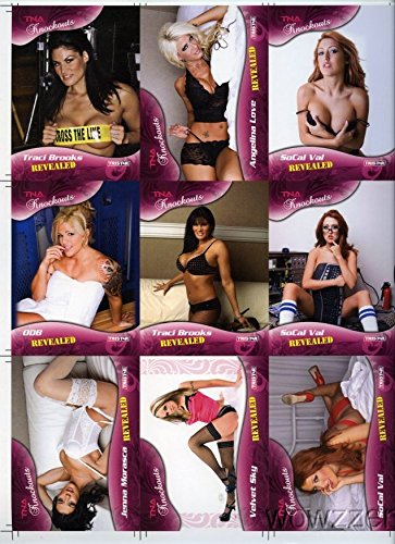 (Tristar TNA KNOCKOUTS Revealed UNCUT SHEET with 18 Cards Set with Christy Hemme,Velvet Sky,Angelina Love, ODB, and Many More!! Beckett Book Value over $61 !)