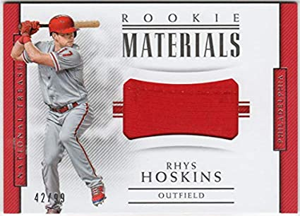 brand new 16fbc 5b2d4 Rhys Hoskins 2018 Panini National Treasures Rookie Materials Jersey Card  Serial  42 99 Philadelphia