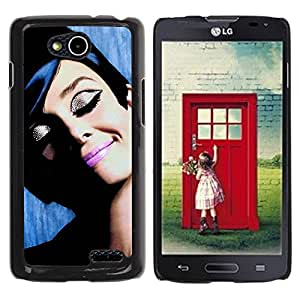 Paccase / SLIM PC / Aliminium Casa Carcasa Funda Case Cover - French Movies Vintage Old Cinema - LG OPTIMUS L90 / D415