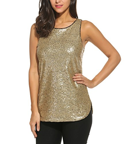 Zeagoo Camisole Shimmer Sequined Sparkle