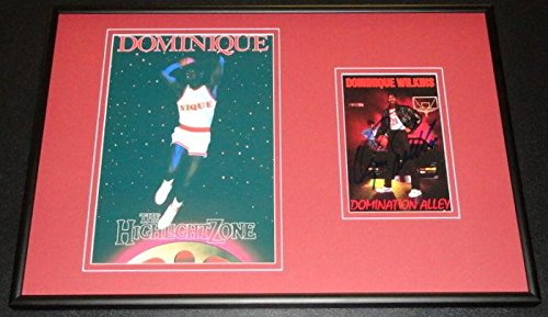 Autographed Wilkins Photo - DUNK CONTEST Framed 12x18 Set - Autographed NBA Photos - Nba Coin Set
