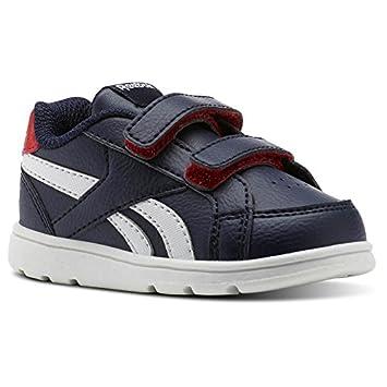 Reebok Royal Prime Alt Bleu Enfants Chaussures de Sport Navy/Primal Red/White
