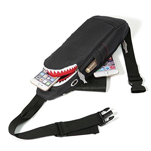 Bolso de hombro, lona par de bolsillo de pecho Charminer aman la honda de la bolsa de mensajero bolsa de deporte, Midische bolso de los hombres y las mujeres de cocodrilo patrón