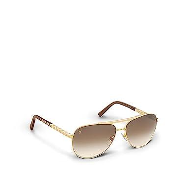 Amazon.com: Louis VUITTON actitud Pilote Oro anteojos de sol ...