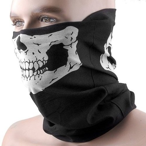 Seamless Skull Half Face Mask Breathable Neck Balaclava For Ski Cycling Motorcycle