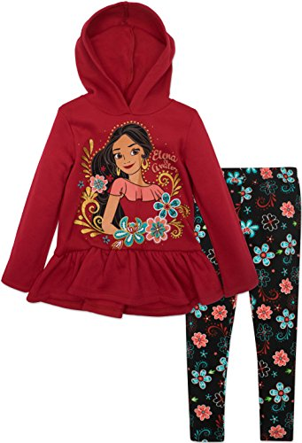Disney Elena of Avalor Toddler Girls Fleece Hoodie and Leggings Set, Red
