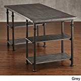 TRIBECCA HOME Myra Vintage Industrial Modern Rustic Storage Desk Grey