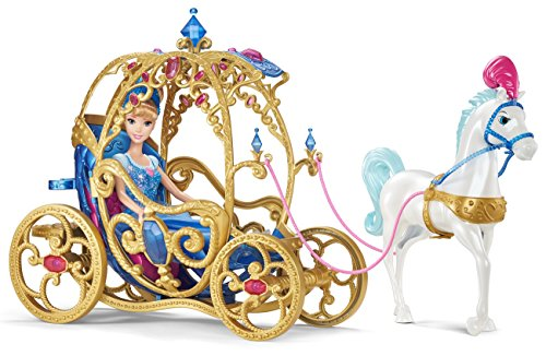 51oHg1EmouL - Mattel Disney Princess Cinderella Horse and Carriage(Discontinued by manufacturer)