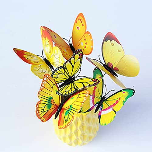 Pinkpaopao Waterproof Colorful Butterfly Stakes, Home Garden Decor, Patio Butterfly Ornaments On Sticks, Outdoor/Yard/Planter/Flower Pot Bed Decor Art 50pcs (D - Multicolor - 24PC)