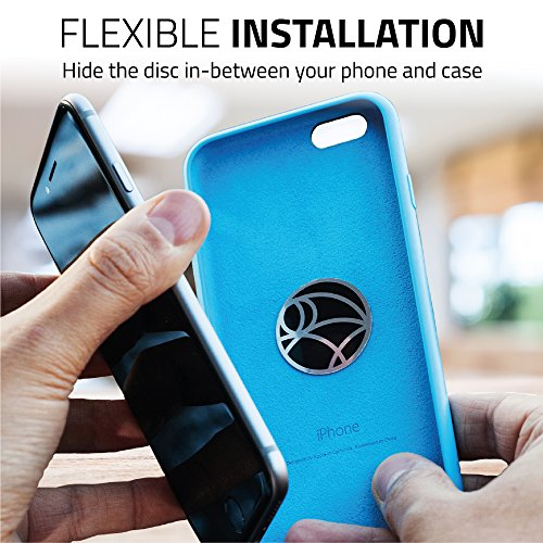 Magnetic Cell Phone Holder Kit by Wuteku   For All Vehicles, Phones & Tablets   UltraSlim Dashboard Mount   Universal Design   iPhone X, 8, 7 & Galaxy S8   Top Rated by Uber & Lyft Drivers