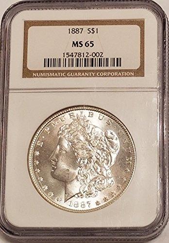 1887 Morgan Silver Dollar $1 MS-65 NGC