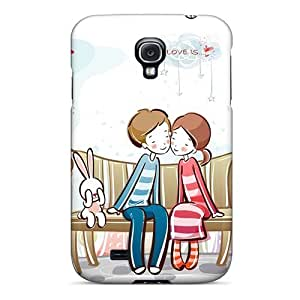 Premium Sweet Couple Bench Heavy-duty Protection Case For Galaxy S4