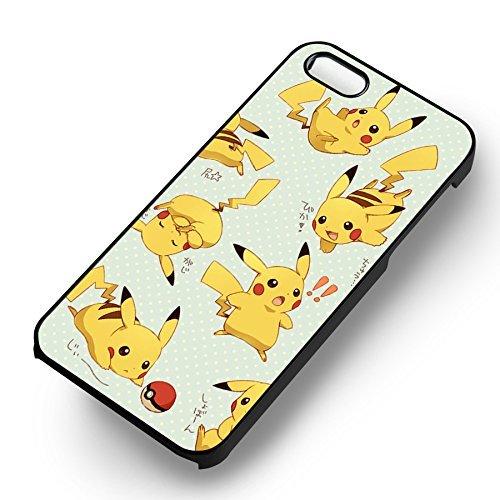Pokemon Cute Pikachu Collage pour Coque Iphone 6 et Coque Iphone 6s Case (Noir Boîtier en plastique dur) M7B1RU