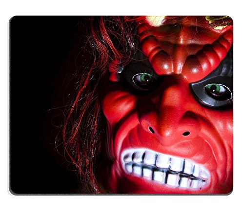 [MSD Natural Rubber Gaming Mousepad IMAGE ID: 765362 Halloween party scaring mask against black] (Danger Mouse Halloween Costume)