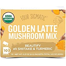 Four Sigmatic Golden Latte with Shiitake Mushroom & Turmeric, Dairy-free, USDA Organic with coconut milk powder - beauty