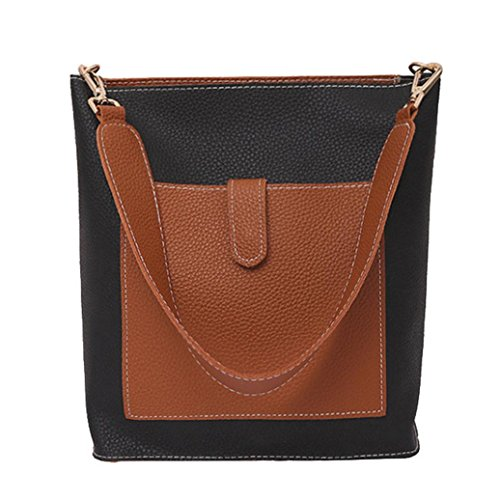 Price comparison product image Women Shoulder Bag, kaifongfu Two Piece Bag Handle Bags Fashion Messenger Bags Handbag Bag Shoulder Bag (Big:27.52412cm, Small:232510cm,  Brown)