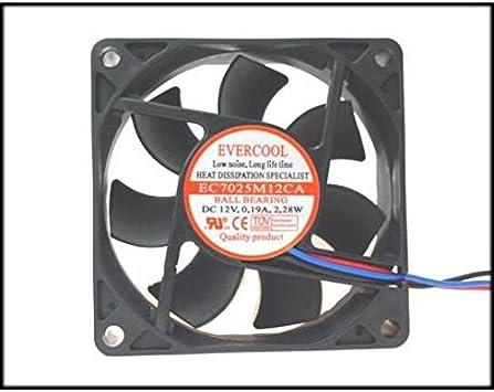 Evercool EC8020M12CA 80X80X20MM BALL BEARING FAN 3Pin