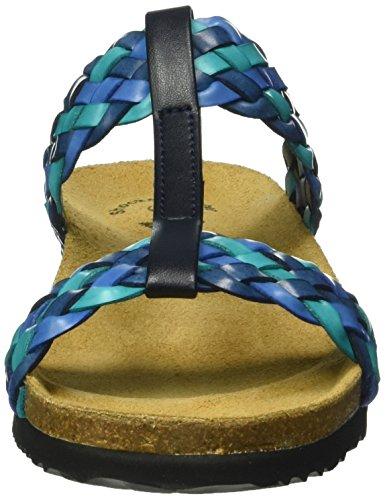 Donna tuerkis Natural Collo A Basso blau Lico Blau Blu Pantofole tuerkis Fashion 7wYWgP