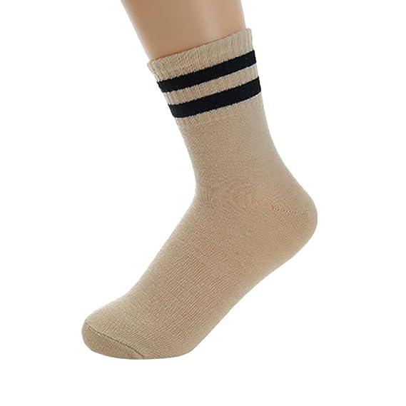 kinlene Mujer gato lindo raya estrella moda calcetín calcetines cómodos