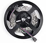 Sunnest 16.4ft LED Flexible Strip Lights, 150 Units SMD 5050 LEDs, Non-Waterproof 12V DC Light Strips, RGB LED Light Strip Kit with 44Key Remote Controller and Power Supply for Kitchen Bedroom Car Bar