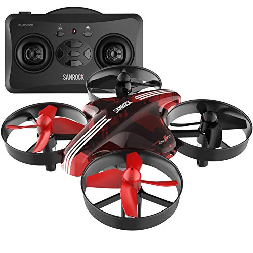 Mini Beginner Drone Kids Upgrade Replaceable Engines, SANROCK GD65A Altitude Hold Hovering RC Nano Quadcopter, 2 Batteries by SANROCK